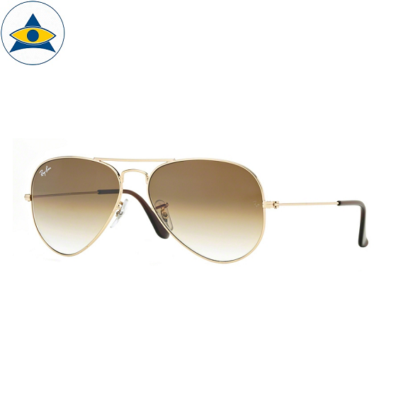 3025 aviator large 001-51 gold w brown gradient s5814 stars$268 stock3
