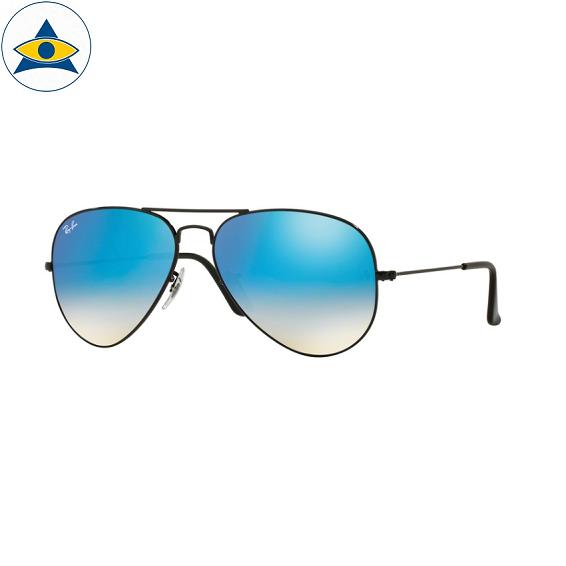 3025 aviator large 002-4o shiny black w mirror blue gradient s5814 stars$230CHECK stock3