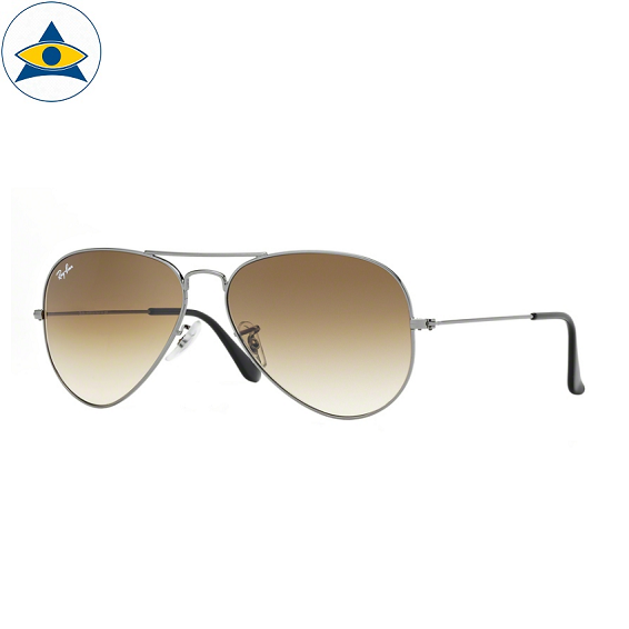 3025 aviator large 004-51 gun metal w brown grad s6214 stars$279