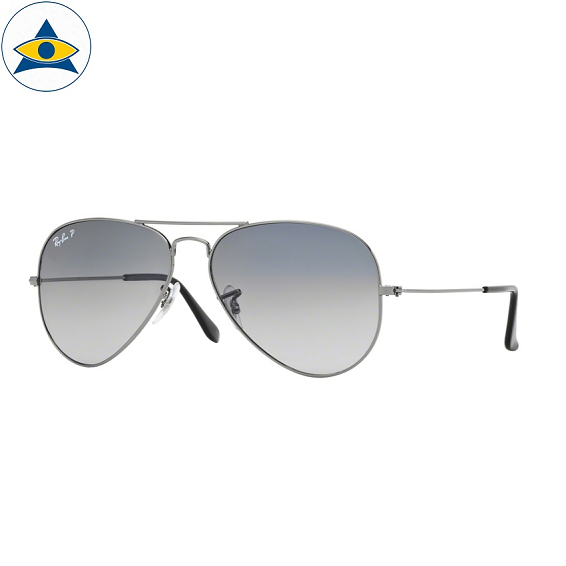 3025 aviator large 004-78 gun metal w crystal polar blue grad grey polar s5814 stars$399