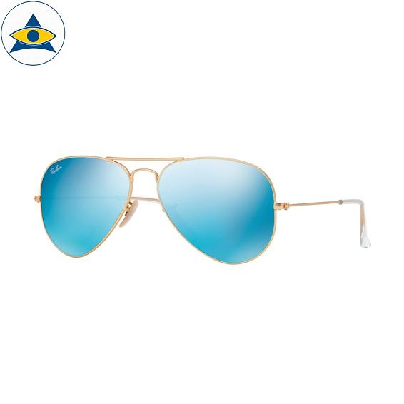 3025 aviator large 112-17 matte gold w blue mirror s5814 & s6214 stars$278