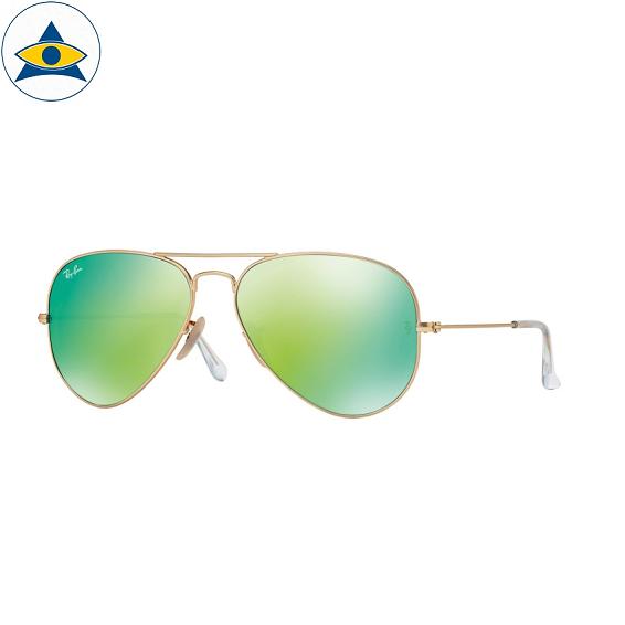 3025 aviator large 112-19 matte gold w green mirror s5814 & s6214 stars$278 stock3
