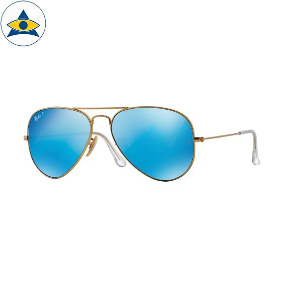 3025 aviator large 112-4L matte gold w blue mirror polar s5814 stars$368 stock3