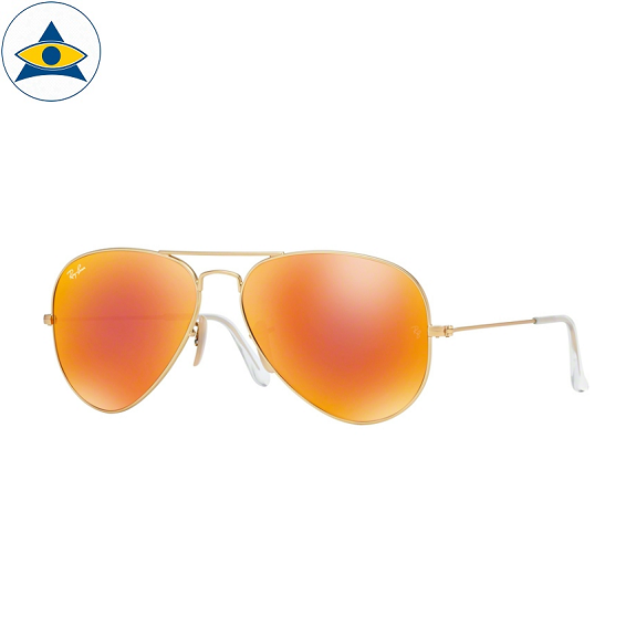 3025 aviator large 112-69 matte gold w orange mirror brown s5814 stars$278 stock3