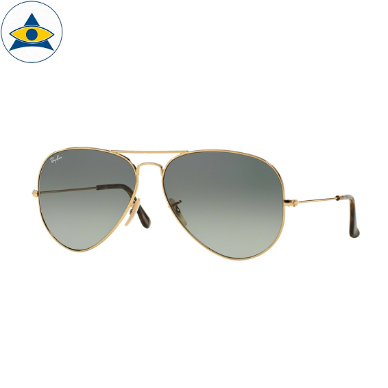 3025 aviator large 181-71 gold w light grey gradient s5814 stars$278