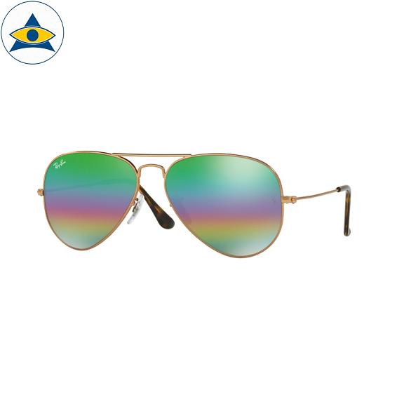 3025 aviator large 9018C3 metallic medium bronze w light grey mirror rainbow 2 s5814 stars$289 stock3