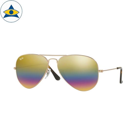 3025 aviator large 9020C4 metallic light bronze w light grey mirror rainbow 3 s5814 stars$289 stock3