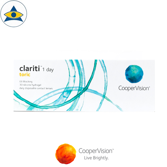 Cooper Vision Clariti 1 day toric asigmatism dailies clear contact lenses tampines admiralty optical