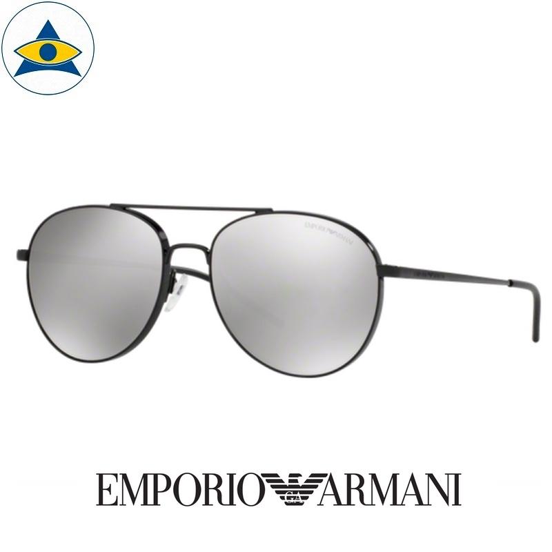 emporio armani sunglass 2040 3014:6g black w silver mirror s5817 338 2