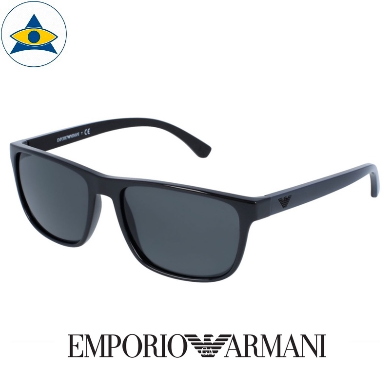 emporio armani sunglass 4087f 5017:87 black dsark navy w grey s5917 328 2