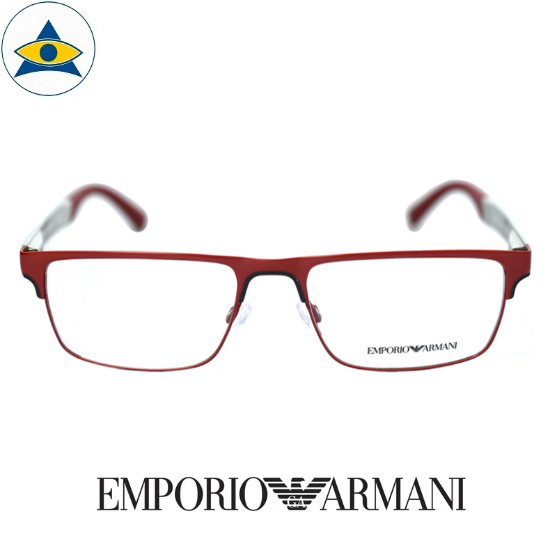 emporio armani 1075 3231 Red silver s55-18 $268 1 tampines optical admiralty optical