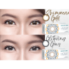 Lacelle shimmering gold glittering grey contact lens dailies cosmetic colour Tampines Admiralty Optical