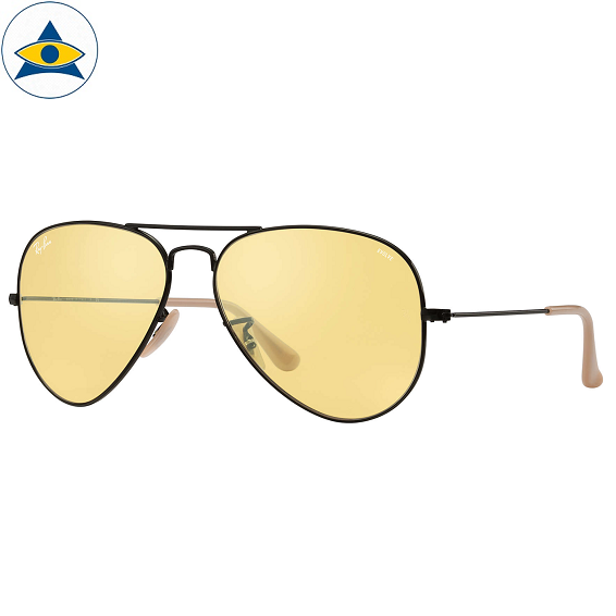 3025 aviator evolve black 9066:4A yellow photochromic s5814 $318 1