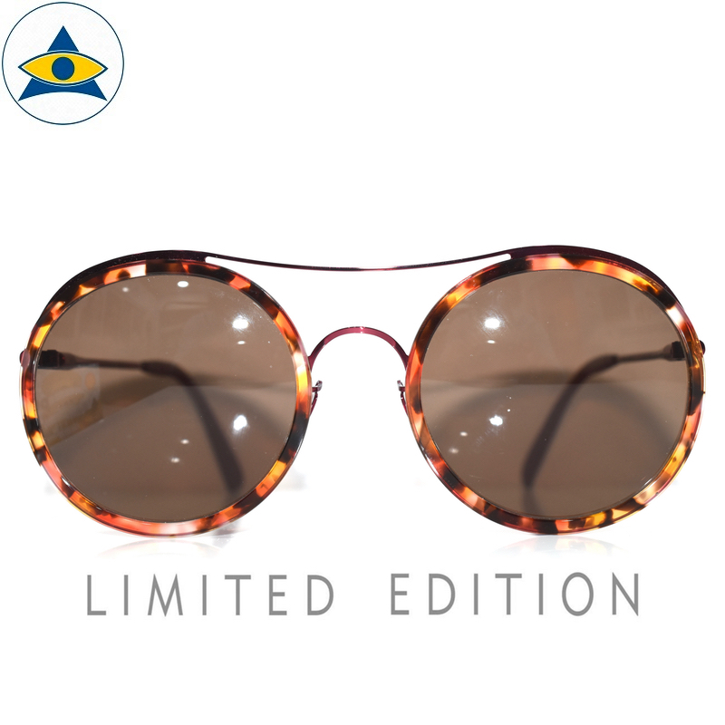 JS-1031 C2 RedTurtleShell-Purple w Brown S57-22 1 Tampines Optical Admiralty Optical LIMTED ED 8305