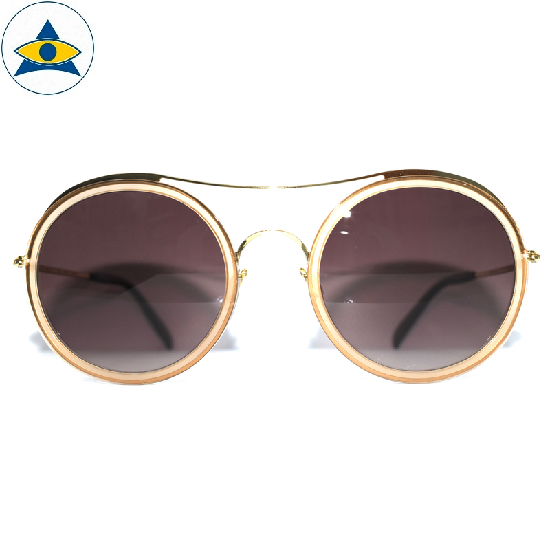 JS-7705 C Yellow-Gold w Brown2 S54-25 1 Tampines Optical Admiralty Optical
