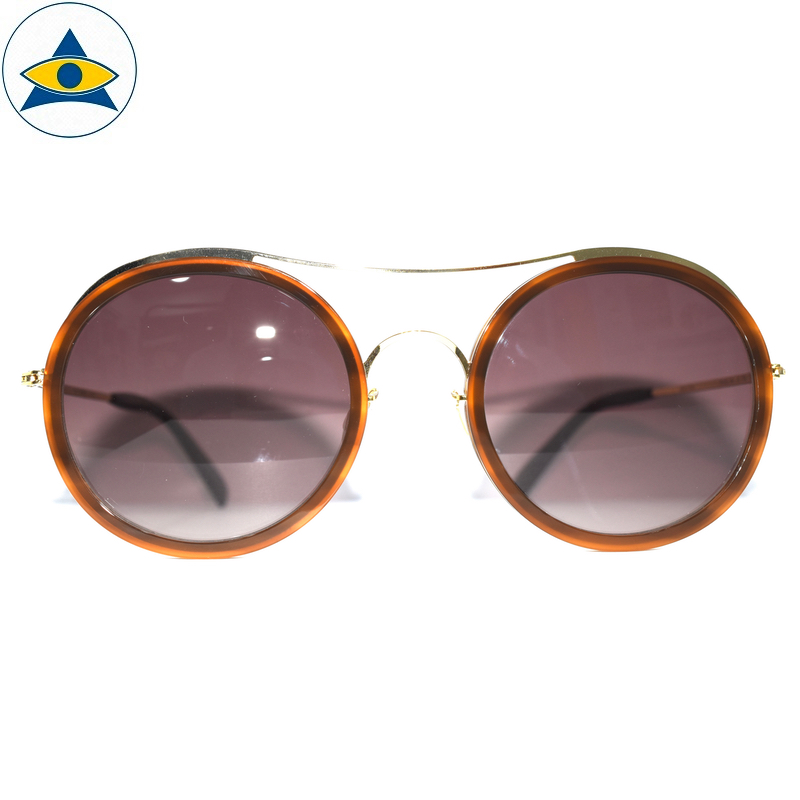 JS-7705 C1 OrangeBrown-Gold w Brown2 S54-25 1 Tampines Optical Admiralty Optical