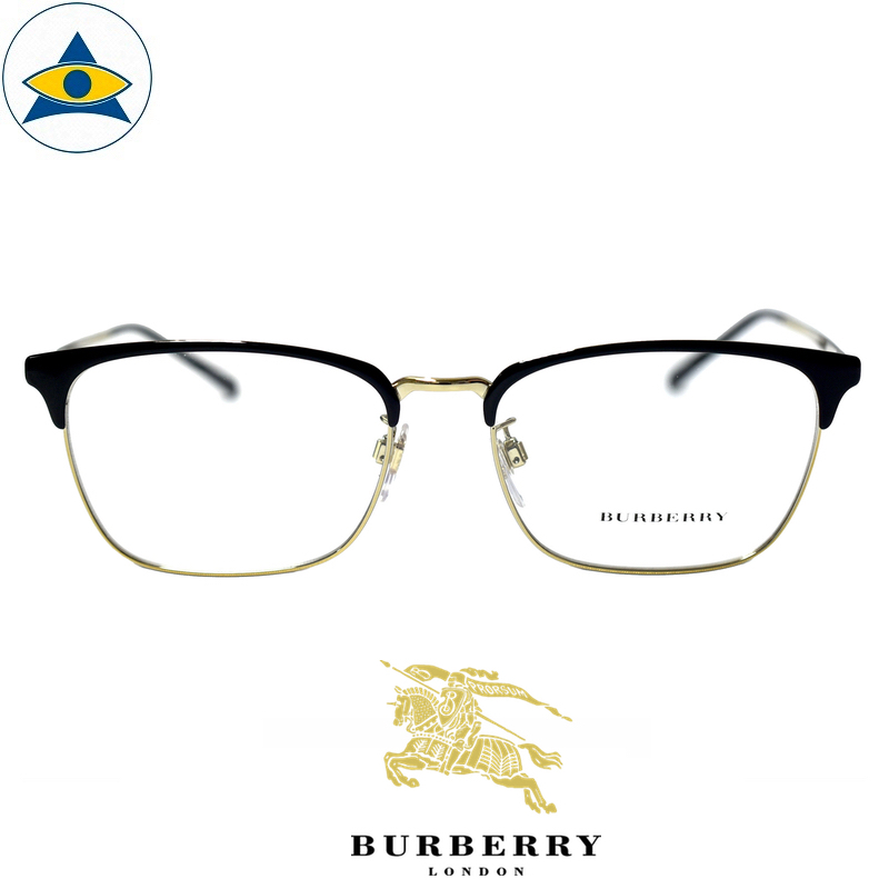 Burberry B 1317D 1245 Black Gold s55-17 $338 Tampines Optical Admiralty Optical 1