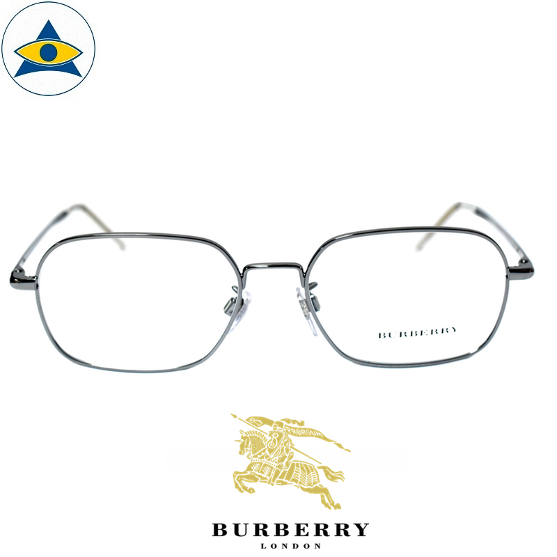 Burberry B 1325D 1003 Black Gun s53-17 $338 Tampines Optical Admiralty Optical 1