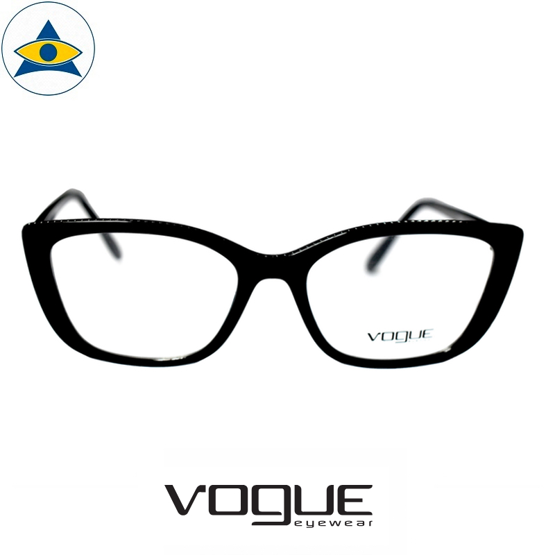 vogue 5217 w44 black s53-17 $228 1 tampines optical admiralty optical