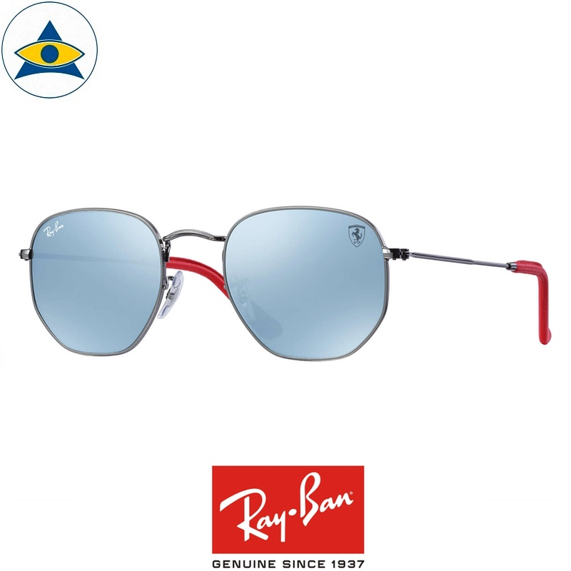 rayban scuderia ferrari sunglass RB3548NM F00130 Gunmetal with silverflash s51-21 $428 tampines admiralty optical 1