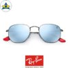rayban scuderia ferrari sunglass RB3548NM F00130 Gunmetal with silverflash s51-21 $428 tampines admiralty optical 2
