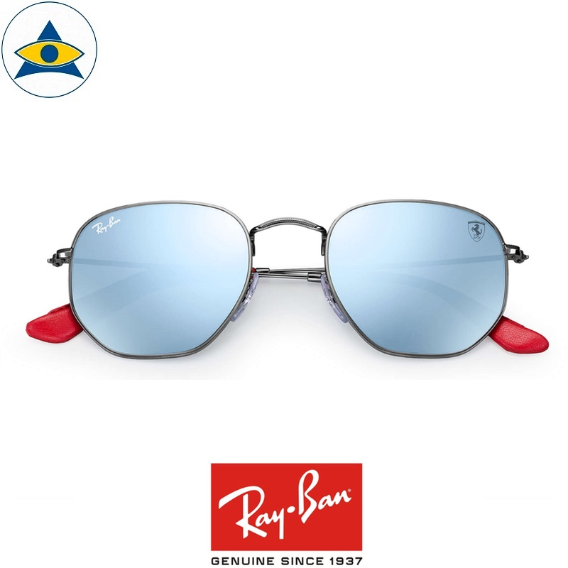 fd48275b5a2 rayban scuderia ferrari sunglass RB3548NM F00130 Gunmetal with silverflash  s51-21  428 tampines admiralty optical