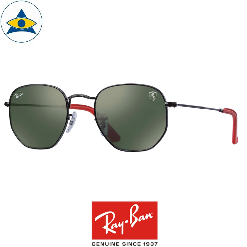 e36ca1b33 rayban scuderia ferrari sunglass RB3548NM F00931 Black with Green s51-21  $428 tampines admiralty optical