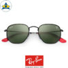 rayban scuderia ferrari sunglass RB3548NM F00931 Black with Green s51-21 $428 tampines admiralty optical 2