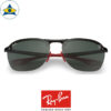 rayban scuderia ferrari sunglass RB4302M F60171 Black red with green s62-17 $398 tampines admiralty optical 2