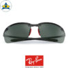 rayban scuderia ferrari sunglass RB8305M F00571 Black with green s64-14 $448 tampines admiralty optical 2