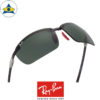 rayban scuderia ferrari sunglass RB8305M F00571 Black with green s64-14 $448 tampines admiralty optical 3