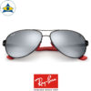 rayban scuderia ferrari sunglass RB8313M F0096G black red with greymirror s61-13 $458 tampines admiralty optical 2