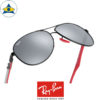 rayban scuderia ferrari sunglass RB8313M F0096G black red with greymirror s61-13 $458 tampines admiralty optical 3