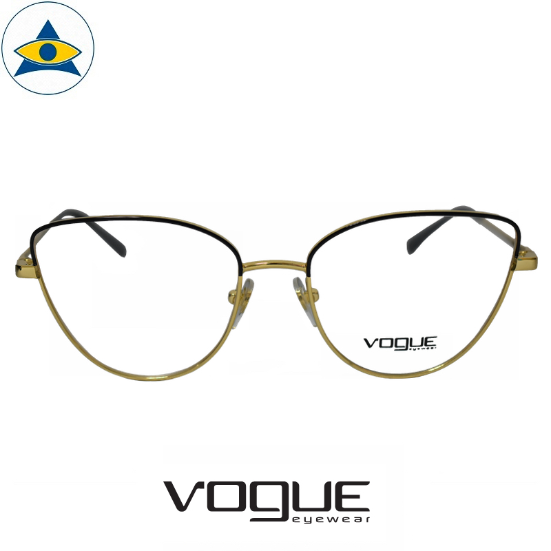 vogue 4109 280 Black Gold s53-17 $228 1 tampines optical admiralty optical