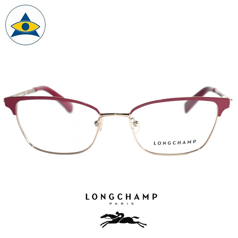 Long Champ 2102 C519 Maroon Gold S5119 $258 1 eyewear optical spectacle glasses tampines admiralty optical