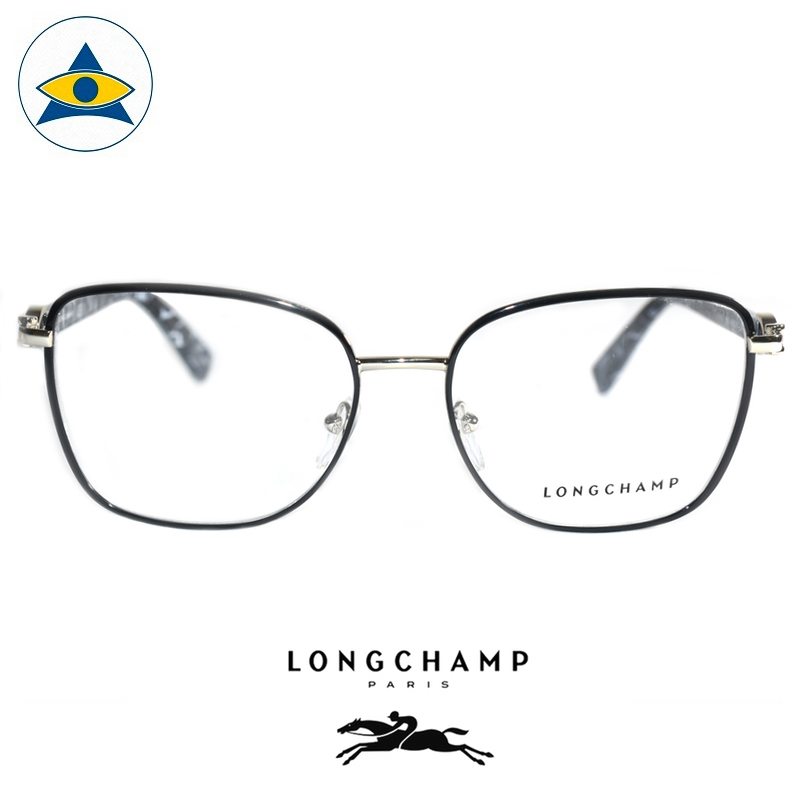 Long Champ 2106 C720 Black Silver S5416 $288 1 eyewear optical spectacle glasses tampines admiralty optical