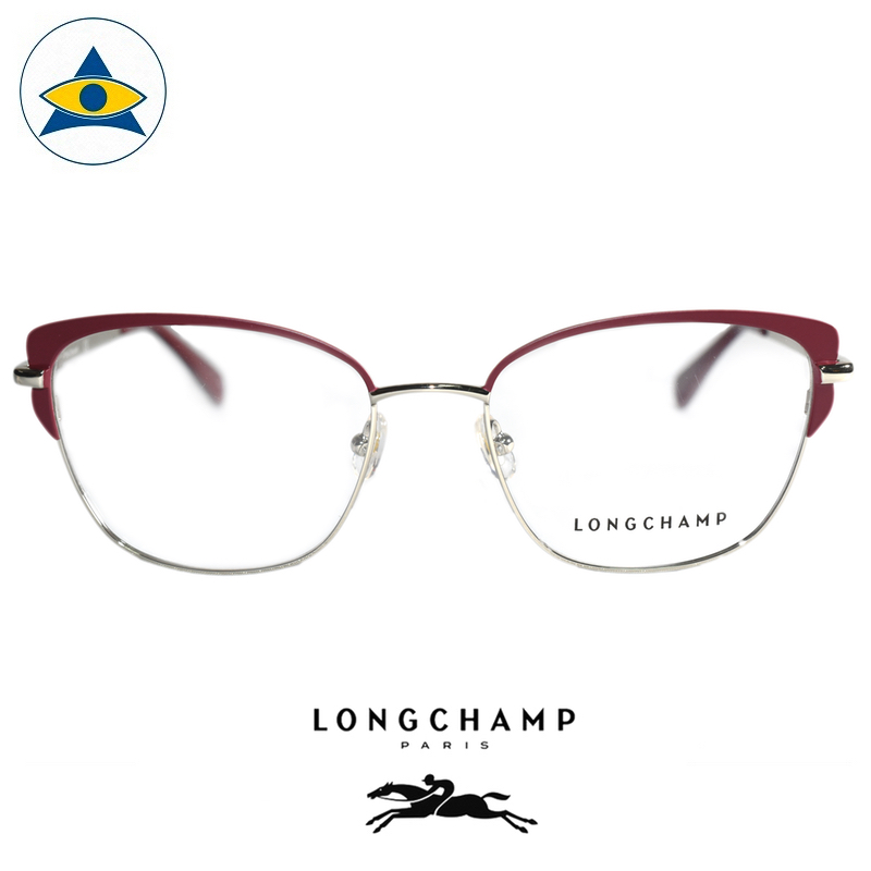 Long Champ 2108 C623 Maroon Gold S5318 $258 1 eyewear optical spectacle glasses tampines admiralty optical