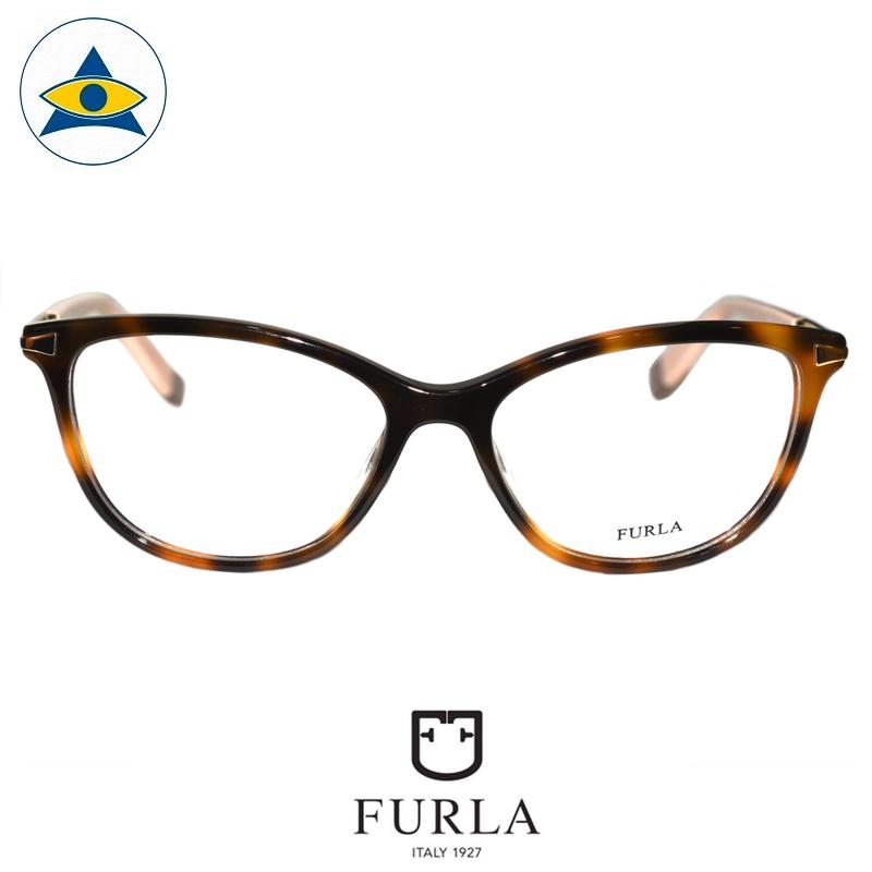 Furla Frida VFU025 09AJ Turtleshell-Pink $258 1 eyewear optical spectacle glasses tampines admiralty optical