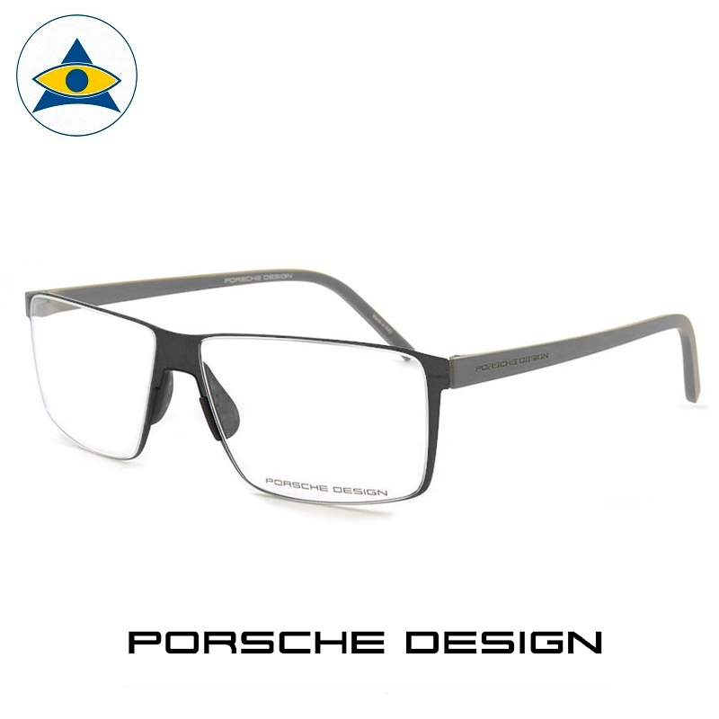Porsche P 8308 A Black-Grey s57-14 $438 2 eyewear frame tampines admiralty optical