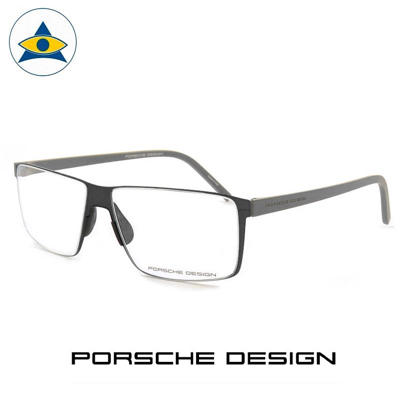 Porsche P 8308 A Black-Grey s57-14 $438 2 eyewear frame tampines admiralty optical