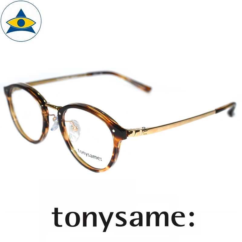 Tonysame eyewear TS 10184 Brown Sasa Gold s4920 $438 2 tampines optical admiralty optical