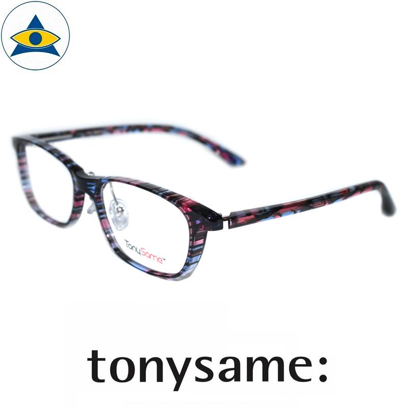 Tonysame eyewear TS 10517 231 Blue-Pink s $438 2 tampines optical admiralty optical