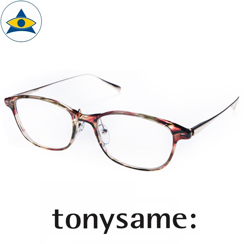 Tonysame eyewear TS 10733 Red Green Gold s5317 $438 2 tampines optical admiralty optical