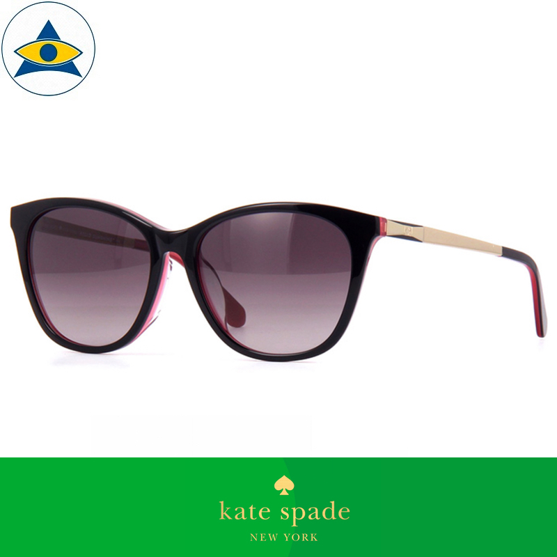 Kate Spade Eyewear Sunglass Caileigh FS 3H23X Black Pink Gold w: Purple2 s5416 $338 tampines admiralty optical 1