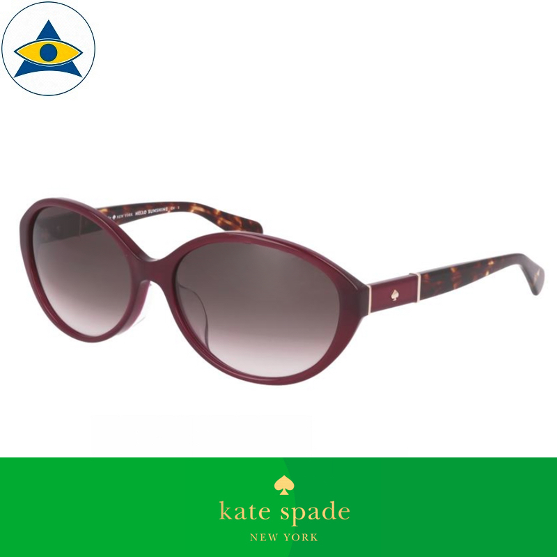 Kate Spade Eyewear Sunglass Catrine FS YDCHA Magenta Turtle Shell w Brown Gradient s5816 $278 tampines admiralty optical 1