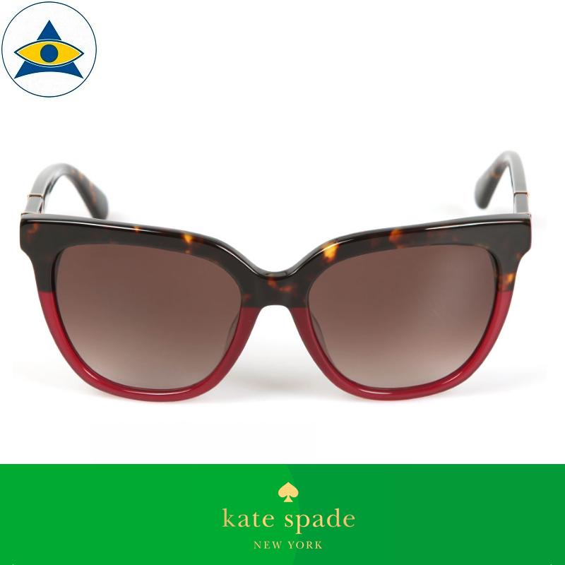 Kate Spade Eyewear Sunglass Kahli:S 65THA Havana:Magenta with Purple 2 s5317 $338 tampines admiralty optical 1