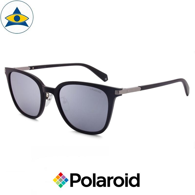 Polaroid sunglass 2072FSX 00EX Matte Black w Black Mirror s522 $138 tampines optical admiralty optical 2