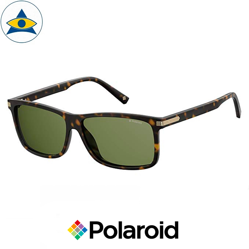 Polaroid sunglass 2075SX 086UC Turtle Shell w Green s5913 $128 tampines optical admiralty optical 2