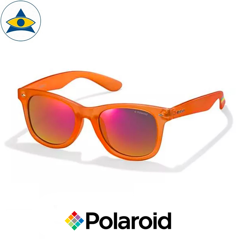 Polaroid sunglass 6009FS IMT OZ Orange w Red Mirror $118 tampines optical admiralty optical 2
