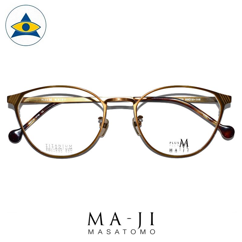 Maji Masatomo Plus M PMJ 030 C1 Antique bronze s5319 $218 1 eyewear frame tampines admiralty optical